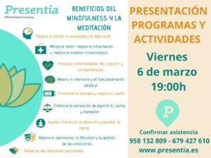 Beneficios de mindfulness y meditación. Presentia-Granada